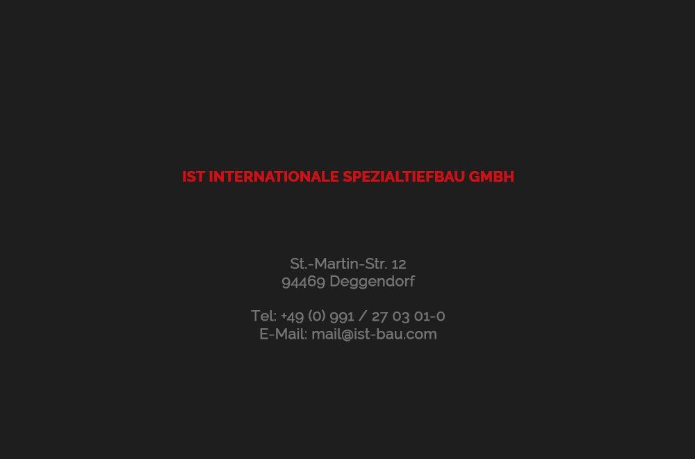 Kontakt IST Internationale Spezialtiefbau GmbH Deggendorf