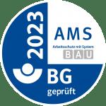 AMS - Arbeitsschutz mit System BAU Zertifikat 2023